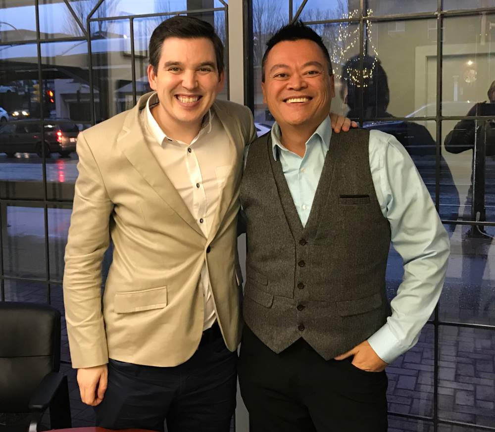 Gavin Mah with MP Terry Beech