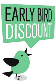 Early bird until March 15, 2020