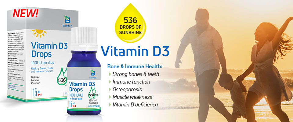 New! Vitamin D3 Drops