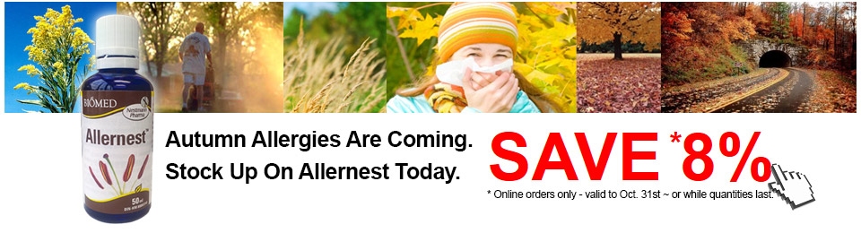 Autumn allergies are coming - stock up on Allernest today and save 8%