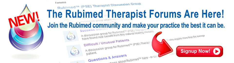The NEW Rubimed Therapist Forums are Here!